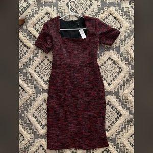 Ann Taylor, red short sleeved dress